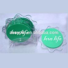 Custom Printing Flower Petal Shaped Acrylic Coaster, Acrylic Place Mat