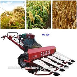 Diesel engine wheat crop cutting machine