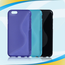 Hot selling S-line tpu case for iphone 6 , Direct factory price tpu mobile phone case for iphone 6