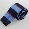 Factory wholesale Dark Blue Stripe Slim Knitted Necktie