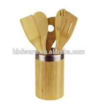 Kitchen utensils set with holder