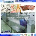 Tunnel congelati macchina kebab/pollo congelato negget/industriale apparecchiature di congelamento rapido
