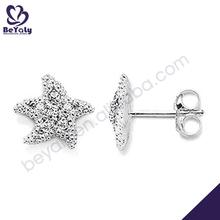 Adorable starfish shape silver wholesale dragon ear cuff