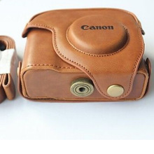 Camera pouch bag compact digital leather camera case for Canon G10 G11 G12 powershot