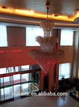 Villa Hall Elegant Loved Hearted Shape Large Crystal Lighting