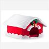 Plush comfortable christmas pet cats house