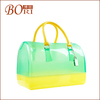 2014 Hot fashion jelly clear plastic handbags