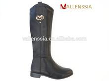 Stylish superior quality newest design PU low heel lady boot