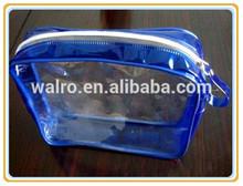 New bule pvc cosmetic gift bags with zipper lock
