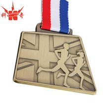 Custom engraved medal Marathon 2D Sand blasting sport medal