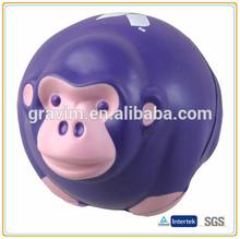 round shape monkey antistress ball,PU stress monkey