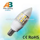hot sale plastic body 3.8w 350lm warm white b15 12v 24v led candle bulb