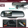 high definition car dvr rearview mirror with gps tracker, motion detection, g-sensor dvr/vcd player