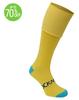yellow sport football sock for women