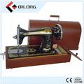 profesional fábrica de nuevo mango mini manual de la máquina de coser