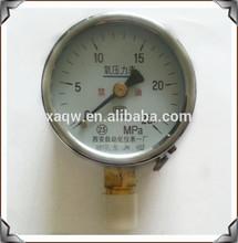 black steel case pressure guage natural gas pressure gauge meter