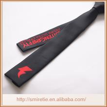 custom made double logo tie,microfiber necktie for party,polyester custom tie necktie