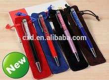 Velvet pen pouch in gift bags