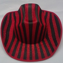 party hat /carnival party red and black cowboy hats/ funny party hats cheap