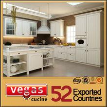 European standard pure white MFC kitchen cabinet decoration