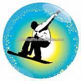 custom ice skiing button badge