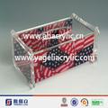 Struttura di superficie 3 vendere bene in acrilico clear tovagliolo& scatola del tessuto