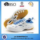 Latest customized white cheap badminton shoes sports shoe for men
