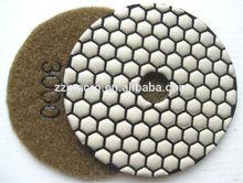 """premium quality hexagonal 4"""" diamond hand polishing pads , dry polishing , thickness 3mm"""