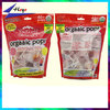 stand up clear plastic pouch bags for lollipop candy bag