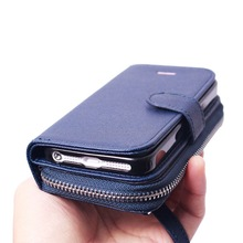 PU leather case with holder for iPhone5S