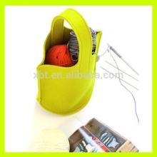 Yellow Felt Gift Bag/Knitting Bag/Small Wool Felt Bag