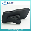 Black Rubberized Hard Case Belt Clip Holster Stand for Blackberry Z30