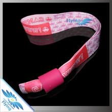 branded fabric bracelet/ cloths brand name wristbands