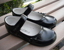 Fashion kids school shoes ankle stripe girls shoes kids children dress shoes in bulk