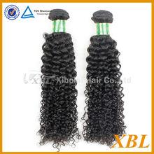 XBL grade 6A virgin virgin Malaysian curly hair weft