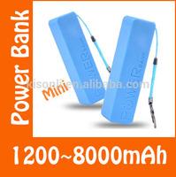 2600mAh Perfume Mini Power Bank universal USB External Backup Battery