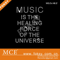 music it the healing for ce of the universe rhinestone transfer alphabet letters