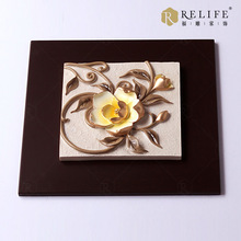 canvas oil painting abstract art Relief painting pictures of flowers wall art decoration