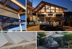 Anti UV makrolon bayer polycarbonate pergola roof material/10 years warranty