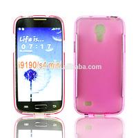 Soft untraslim TPU case for Samsung Galaxy S4 mini i9190 crystal cover