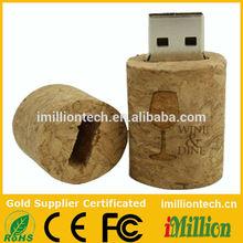 wood wine cork usb
