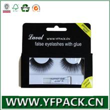 2014 Hot Selling Custom Printing Plastic Cosmetic eye lash lip stick foldable Box