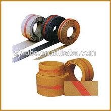 Fold edge type flat rubber belts