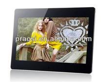 pop oem logo digital photo frame video playback 13inch