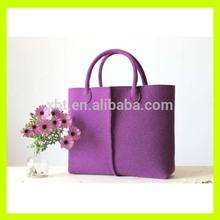 Wool Felt Tote Bag- Purple