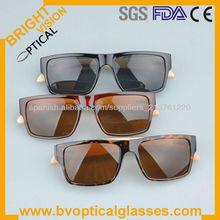 Hot sale comfortable wayfarer acetate wood/bamboo temple sunglasses (5119)