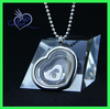 Stainless steel floating charms locket with living locket