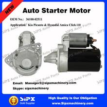 Best quality 12V 8T starter Motor for Kia Picanto & Hyundai Amica Click i10, OEM 36100-02511