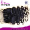 silk base lace closure 3 way part