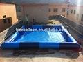 Gigante inflável praça piscina made in China